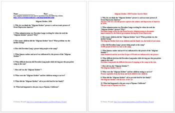Great Depression Lesson Plan Collection