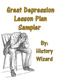 Great Depression Lesson Plan Sampler (Worksheet, Mapping, Presentation)