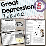 Great Depression Lesson Slideshow and Quiz SS5H3