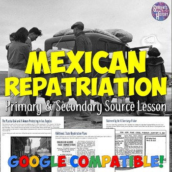 Great Depression & Mexican Repatriation Lesson Plan