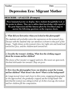 Great Depression Migrant Mother