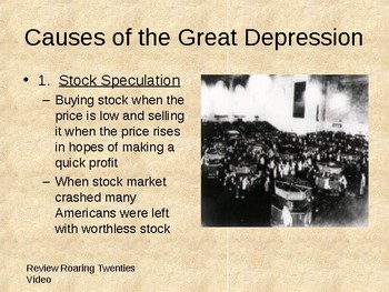 Great Depression & New Deal (48-page Word Document & 84-page PowerPoint)