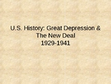 Great Depression & New Deal (48-page Word Document & 84-pa