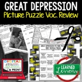 Great Depression & New Deal Activity Picture Puzzle , Study Guide, Test Prep