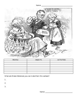 Great Depression/New Deal Political Cartoon Analysis
