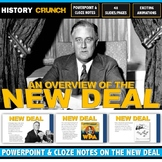 Great Depression New Deal - PowerPoint with Cloze Notes (48 Slides/Pages!)