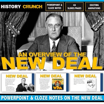 Great Depression New Deal - PowerPoint with Cloze Notes (4
