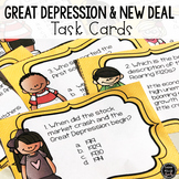 Great Depression & New Deal Task Cards (SS5H3, SS5H3a, SS5