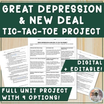 Great Depression & New Deal Tic Tac Toe Project