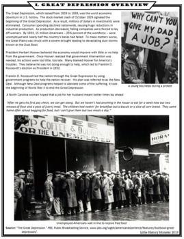 Great Depression - New Deal UNIT BUNDLE