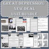 Great Depression - New Deal UNIT BUNDLE (Print and Digital