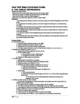 Great Depression- Notes New York State Regents Course