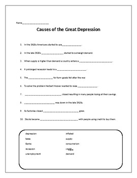 Great Depression Packet