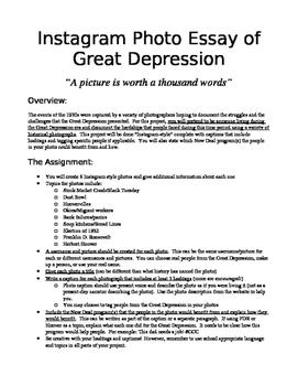Great Depression Photo Essay (Instagram Style)
