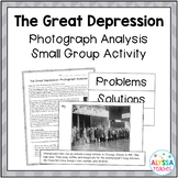 Great Depression Primary Sources Activity