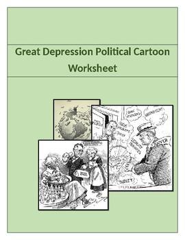 Great Depression Political Cartoon Activity.