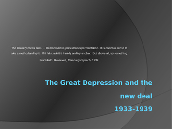 Great Depression PowerPoint
