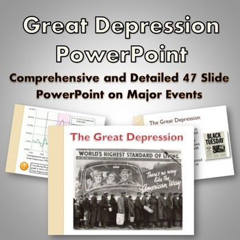 Great Depression - PowerPoint (Dust Bowl, Stock Market, New Deal, Roosevelt)