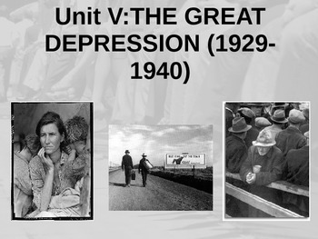 Great Depression PowerPoint and Guided Notes