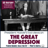 Great Depression Hoover Paired Primary Source & Extended Writing