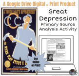 Great Depression Primary Source Analysis Interactive Lesso