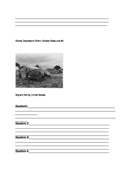 Great Depression Primary Source Document Analysis