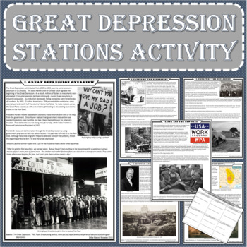Great Depression Primary Source Stations Activity