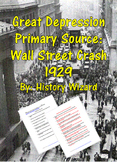 Great Depression Primary Source: Wall Street Crash 1929