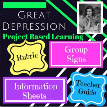 """""""Teach the Great Depression"""" Project Based Learning"""