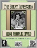 Great Depression Worksheets: How People Lived