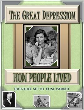 Great Depression Worksheets: How People Lived