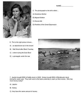 Great Depression Quiz