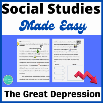 Great Depression Close Reading  Activity