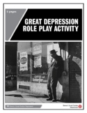 Great Depression Role Play Activity
