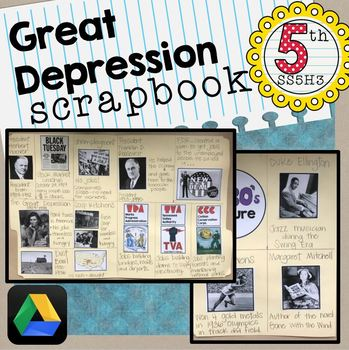Great Depression Scrapbook SS5H5 Interactive Notebook