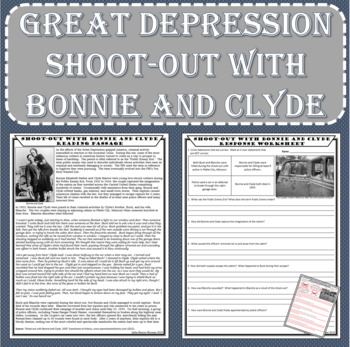 Great Depression - Shoot-out with Bonnie and Clyde Reading Passage
