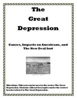 Great Depression Sort