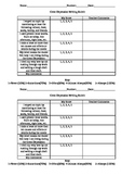 Great Depression Student Self-Assess Writing Rubric