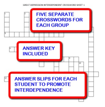 Great Depression: Interdependent Crossword Puzzles