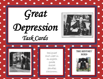 Great Depression Task Cards