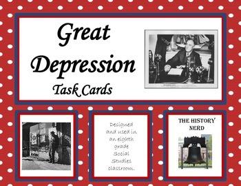 Great Depression Task Cards