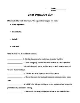 Great Depression Test