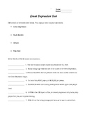 Great Depression Test