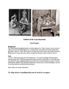 Great Depression Toy Project