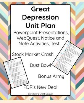 Great Depression: UNIT PLAN BUNDLE