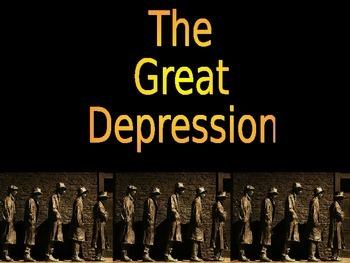 Great Depression U.S. History Power Point Presentation