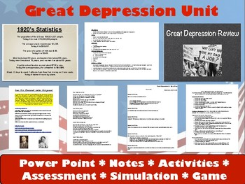 Great Depression Unit