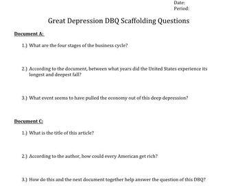 Great Depression Unit