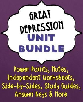 Great Depression Unit Bundle
