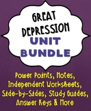 Great Depression Unit Bundle